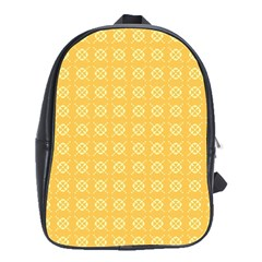 Yellow Pattern Background Texture School Bags(large)