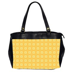 Yellow Pattern Background Texture Office Handbags (2 Sides)