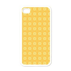 Yellow Pattern Background Texture Apple Iphone 4 Case (white)