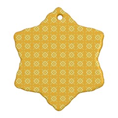 Yellow Pattern Background Texture Ornament (snowflake)