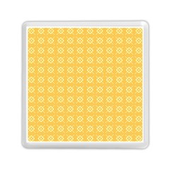Yellow Pattern Background Texture Memory Card Reader (square)