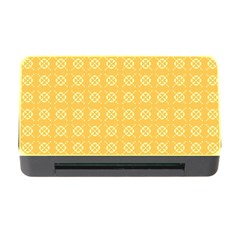 Yellow Pattern Background Texture Memory Card Reader With Cf