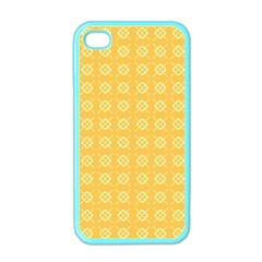 Yellow Pattern Background Texture Apple Iphone 4 Case (color)