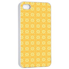 Yellow Pattern Background Texture Apple Iphone 4/4s Seamless Case (white)