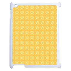 Yellow Pattern Background Texture Apple Ipad 2 Case (white)