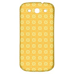 Yellow Pattern Background Texture Samsung Galaxy S3 S Iii Classic Hardshell Back Case