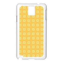 Yellow Pattern Background Texture Samsung Galaxy Note 3 N9005 Case (white)