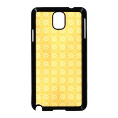 Yellow Pattern Background Texture Samsung Galaxy Note 3 Neo Hardshell Case (black)