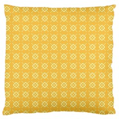 Yellow Pattern Background Texture Standard Flano Cushion Case (one Side)
