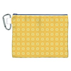 Yellow Pattern Background Texture Canvas Cosmetic Bag (xxl)