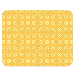 Yellow Pattern Background Texture Double Sided Flano Blanket (medium)