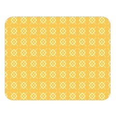 Yellow Pattern Background Texture Double Sided Flano Blanket (large)