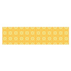 Yellow Pattern Background Texture Satin Scarf (oblong)