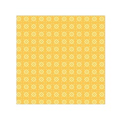 Yellow Pattern Background Texture Small Satin Scarf (square)