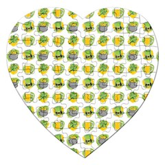 St Patrick S Day Background Symbols Jigsaw Puzzle (heart)