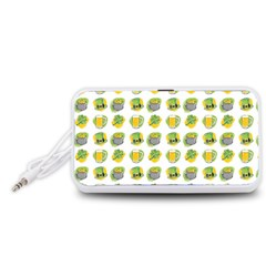 St Patrick S Day Background Symbols Portable Speaker (white)
