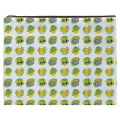 St Patrick S Day Background Symbols Cosmetic Bag (xxxl)
