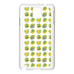 St Patrick S Day Background Symbols Samsung Galaxy Note 3 N9005 Case (white)