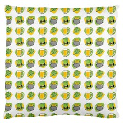 St Patrick S Day Background Symbols Large Flano Cushion Case (two Sides)