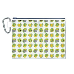St Patrick S Day Background Symbols Canvas Cosmetic Bag (l)