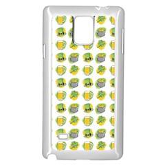 St Patrick S Day Background Symbols Samsung Galaxy Note 4 Case (white)