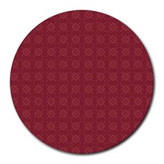 Purple Pattern Background Texture Round Mousepads
