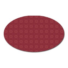Purple Pattern Background Texture Oval Magnet