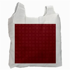 Purple Pattern Background Texture Recycle Bag (two Side)