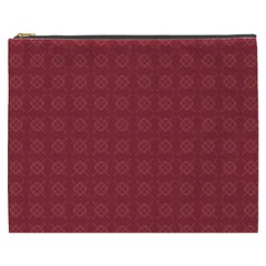 Purple Pattern Background Texture Cosmetic Bag (xxxl)