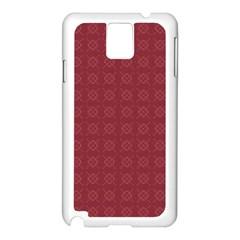 Purple Pattern Background Texture Samsung Galaxy Note 3 N9005 Case (white)