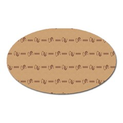 Brown Pattern Background Texture Oval Magnet