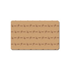 Brown Pattern Background Texture Magnet (name Card)