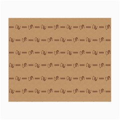 Brown Pattern Background Texture Small Glasses Cloth (2 Side)
