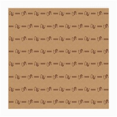 Brown Pattern Background Texture Medium Glasses Cloth (2 Side)