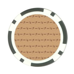 Brown Pattern Background Texture Poker Chip Card Guard