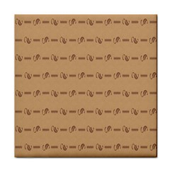 Brown Pattern Background Texture Face Towel