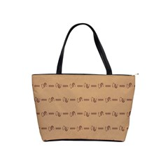 Brown Pattern Background Texture Shoulder Handbags