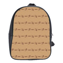 Brown Pattern Background Texture School Bags(large)
