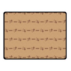 Brown Pattern Background Texture Fleece Blanket (small)
