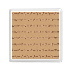Brown Pattern Background Texture Memory Card Reader (square)