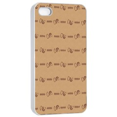 Brown Pattern Background Texture Apple Iphone 4/4s Seamless Case (white)