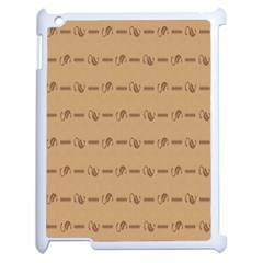 Brown Pattern Background Texture Apple Ipad 2 Case (white)