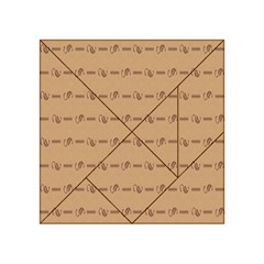 Brown Pattern Background Texture Acrylic Tangram Puzzle (4  X 4 )