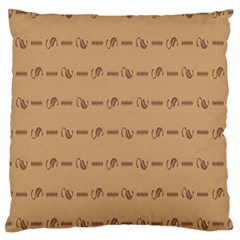 Brown Pattern Background Texture Large Cushion Case (two Sides)