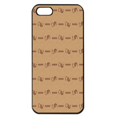 Brown Pattern Background Texture Apple Iphone 5 Seamless Case (black)
