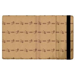 Brown Pattern Background Texture Apple Ipad 2 Flip Case