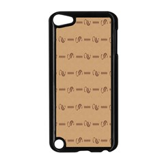 Brown Pattern Background Texture Apple Ipod Touch 5 Case (black)