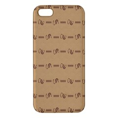 Brown Pattern Background Texture Apple Iphone 5 Premium Hardshell Case
