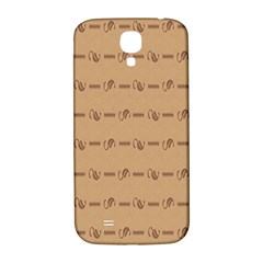 Brown Pattern Background Texture Samsung Galaxy S4 I9500/i9505  Hardshell Back Case