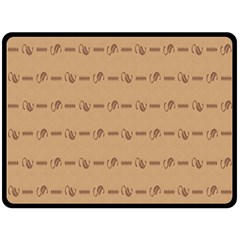 Brown Pattern Background Texture Double Sided Fleece Blanket (large)